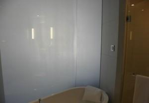 LC SmartGlass by SmartGlass International featuring smart glass bathroom wall partitions
