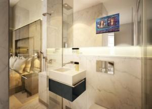smart privacy glass bathroom at Eccleston Square Hotel London