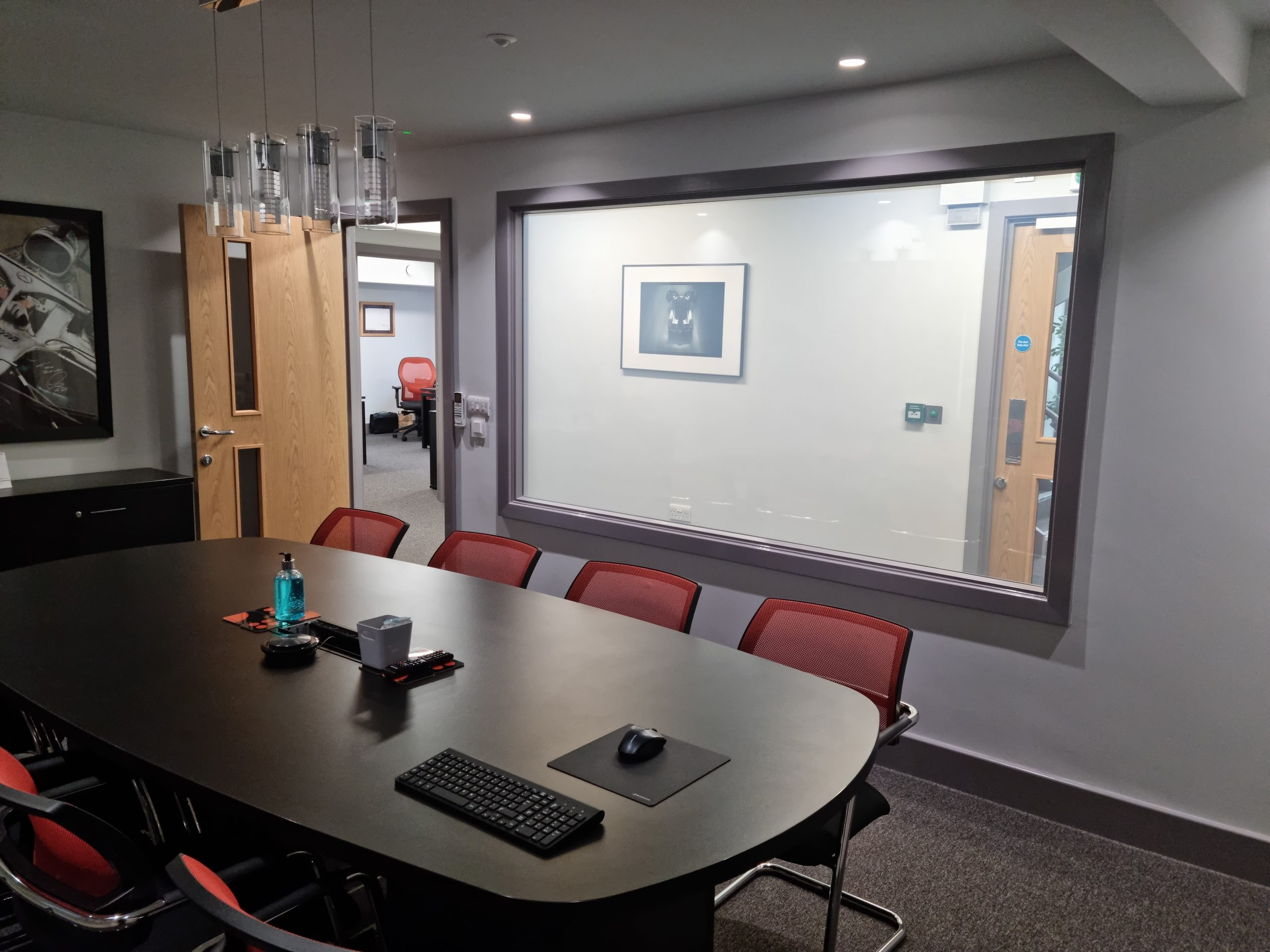 Smartglass privacy glass project in meeting room