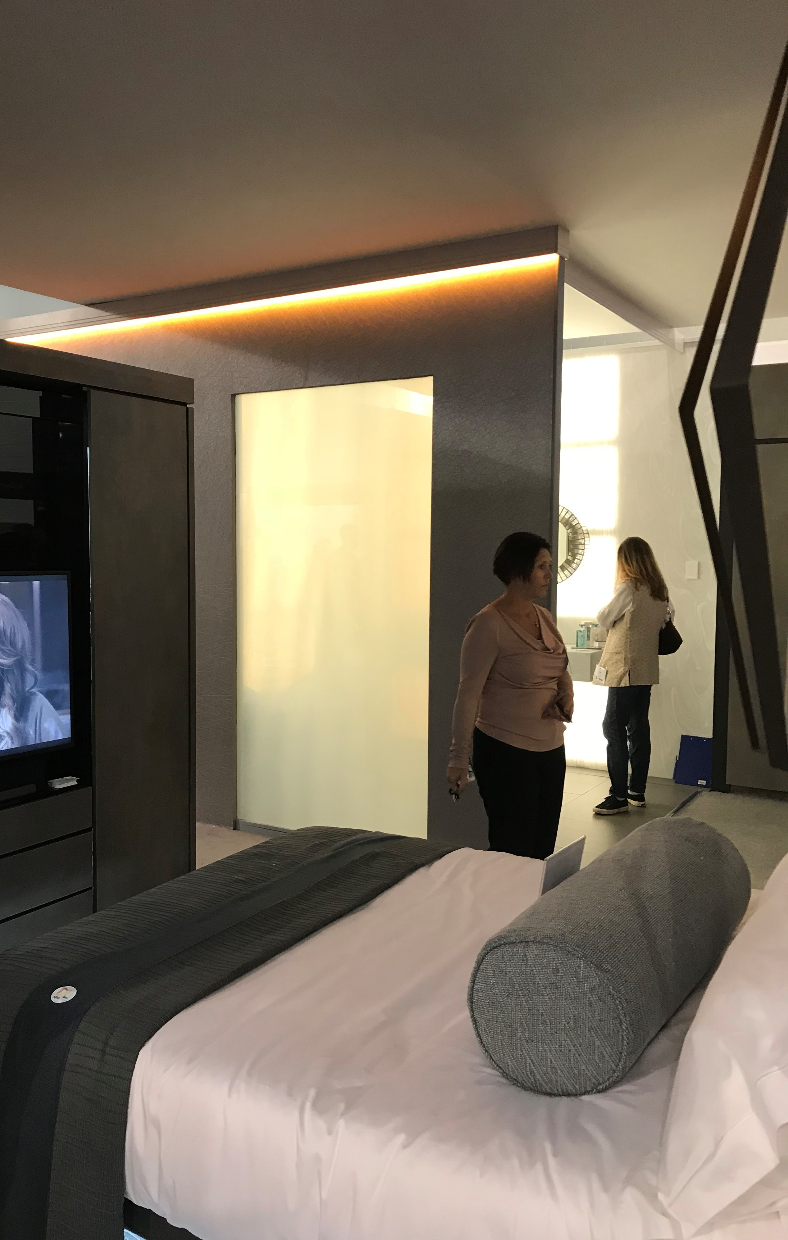 Privacy Glass in Hotel Room of The Future Exhibition