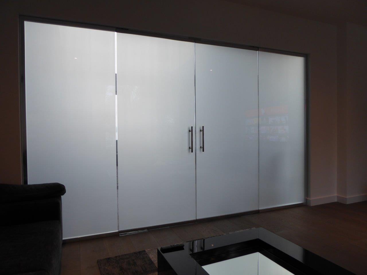 Privacy glass cinema room
