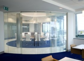 Curved SmartGlass Privacy Glass for Offices