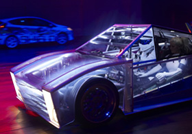 See Through Smart Glass Car Panels at Top Gear Live